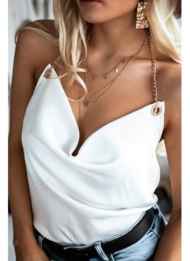 BLACK&GRACE Bluz Beyaz